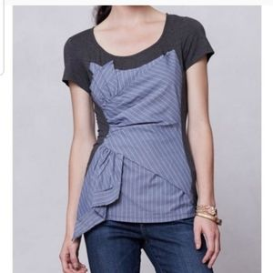 One September Striped Twist Front Top